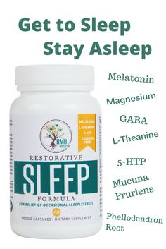 Natural Sleep Aid, No Drugs, No hangover. Natural ingredients scientifically combined for maximum effectiveness. RMB Naturals