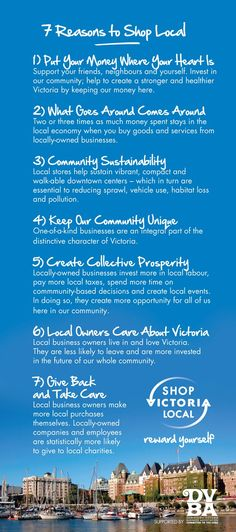 7 Reasons to Shop Local: