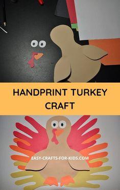 Thanksgiving Hand Turkey Craft - Easy Crafts For Kids