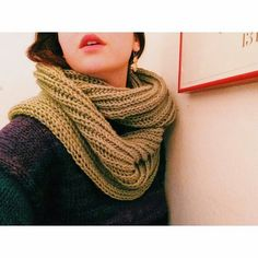 Bella Brioche Cowl in pea green by @eastvillageknits  eastvillageknits.etsy.com