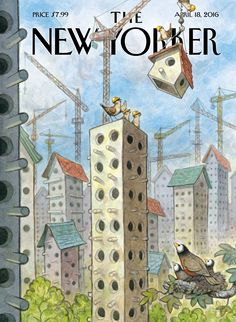 """The New Yorker - Monday, April 18, 2016 - Issue # 4635 - Vol. 92 - N° 10 - Cover """"Luxury Coops"""" by Peter de Sève"""