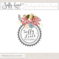 Circle Stamp Premade Custom Business Photography Logo Design (198)
