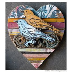 Lovebird Collection, rescued wood construction by Dolan Geiman