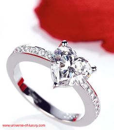 Heart diamond ring! Repin by Joanna MaGrath on Pinterest Rings