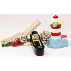 Thomas And Friends Wooden Railway - Lighthouse Bridge With Bulstrode