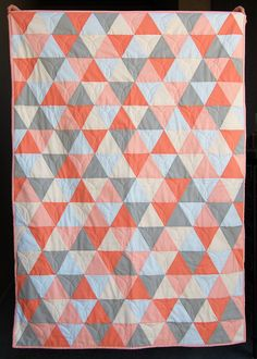 Mod Triangle Baby Quilt- a FREE tutorial from The Cloth Parcel