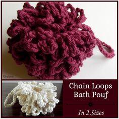 Chain Loops Bath Pouf - FREE Crochet Pattern