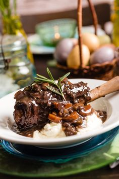 Slow cooker Braised Lamb Shanks in Red Wine from Everyday Good Thinking by @hamiltonbeach