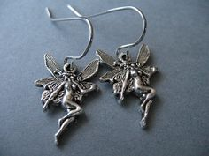 Antiqued Silver Fairy Earrings Hypoallergenic by AliCsCreations, $7.25