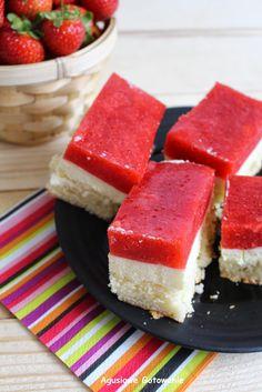 Agusiowe Gotowanie: Ciasto z truskawkami w galaretce wg.s.Anastazji :)