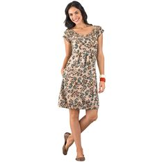 Organic Fair Trade Fall Dress |Fair trade dresses for women | Fair Indigo -- this patterned dress would be cute layered with tights, boots, and a chunky sweater! Fair trade fashion.