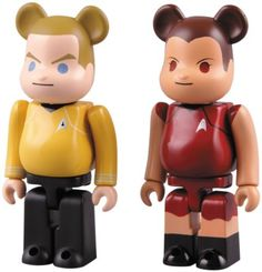 Kubrick Star Trek Kirk & Uhura Bearbrick 2-Pack by Medicom -- Awesome products selected by Anna Churchill