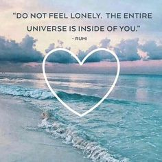 Do not feel lonely The entire universe is inside you. - Rumi