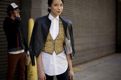 Street Style, New York: 27 photos featuring Elin Kling, Derek Blasberg, Emmanuelle Alt and Grace Coddington outside the Fall 2013 shows | At the shows | FASHION Magazine |