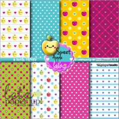 Digital Paper Printable Paper Kawaii Paper Digital Paper Pack Instant Download Scrapbook Supplies Cute Background  Scrapbooking Paper LetsPaperUp 1.20 USD