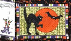 Fright Night Fabric Postcard | Flickr - Photo Sharing!