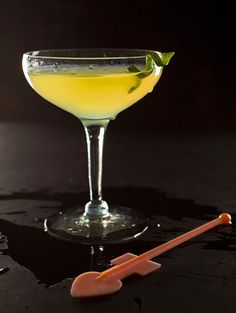 The Last Word Cocktail - equal parts gin, chartreuse, maraschino liqueur, and fresh lime juice.
