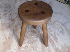 rustic wood milk stool solid ash ready to ship three legged. $280.00, via Etsy. Milking Stool, Wooden Stools, Rustic Wood, Ash, Handmade Gifts, Clearance Sale, Furniture, Cinderella, Vintage
