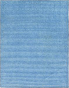 Light Blue 9' 10 x 13' Solid Gabbeh Rug | Oriental Rugs | eSaleRugs