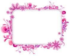 Pink and Purple Vector Frame