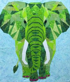 Elephant Jungle Abstractions Quilt Pattern Collection by Bargello Quilt Patterns, Quilting Patterns, Elephant Quilts Pattern, Biggest Elephant, Fabric Art, Fabric Crafts, Quilting Room, Animal Quilts, Foundation Paper Piecing