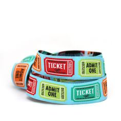 Movie Ticket by Jessica Jones ribbon jacquard by HappyTastyRibbon
