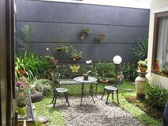 taman cantik rumah minimalis