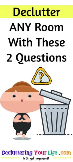Declutter ANY Room With These 2 Questions Clutter Organization, Home Organization Hacks, Organizing, Garage Organization, How To Organize Your Closet, Declutter Your Life, Clean My House, Garage Storage Solutions, House Cleaning Tips