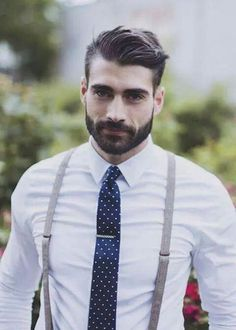 Braces and tie clip - perfect grooms attire for a vintage styled wedding