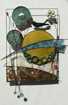 Liz cooksey. Like wire and fabric and paper combo