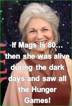 but how terrible is that? Still she would have only been 5 for the first hunger games....