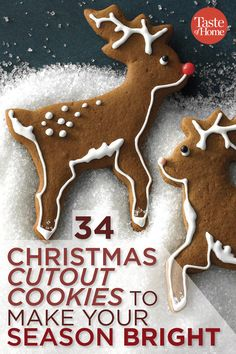 34 Christmas Cutout Cookies to Make Your Season Bright - Cupcakee Ideen Christmas Cutout Cookie Recipe, Christmas Sugar Cookies, Holiday Cookies, Holiday Treats, Christmas Treats, Gingerbread Cookies, Christmas Cookies Cutouts, Christmas Recipes, Holiday Recipes