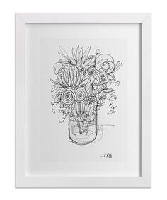 Sketchbook Bouquet II by Minted + domino