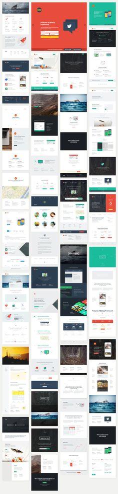 Startup Design Framework #designmodo #ui #ux #website