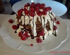 Maanan matkassa: Suklainen lettukakku Waffles, Breakfast, Desserts, Food, Morning Coffee, Tailgate Desserts, Deserts, Essen, Waffle