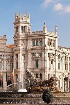 Plaza Cibeles Madrid España.