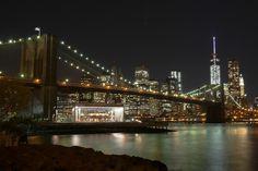 World Trade Center lights up!