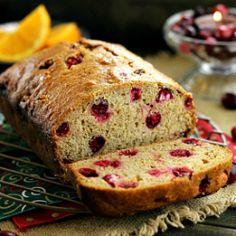 Orange Cranberry Quick Bread HealthyAperture.com