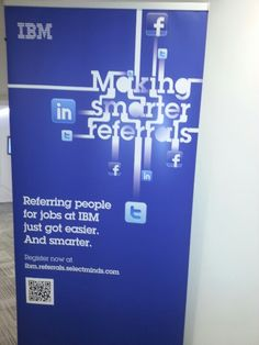 QR code In the lobby of IBM building Southbank, London. One of the 1st things I saw