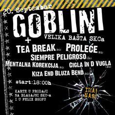 Goblini pozivaju fanove na druženje 20. septembra u baštu SKC-a