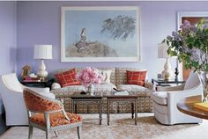 LUSTER INTERIORS: Luxe lavender