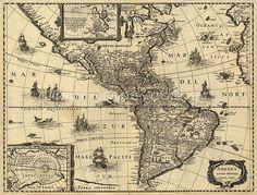 Mapa de Antiguo de América
