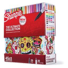 Sharpie Permanent Markers Ultimate Cosmic Color Collection, Fine and Ultra Fine Points, Assorted Colors, 45 Count Cute School Supplies, Office And School Supplies, Sharpie Markers, Sharpies, Coloring Books, Coloring Pages, Adult Coloring, Sharpie Colors, Little Presents