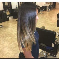 Natural hair  silk press   trim Stylist - @meagandoesmyhair