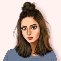 Dibujos de chicas Beautiful Girl Drawing, Cute Girl Drawing, Cartoon Girl Drawing, Beautiful Drawings, Girl Cartoon, Cartoon Art, Girly M, Best Friend Drawings, Girly Drawings