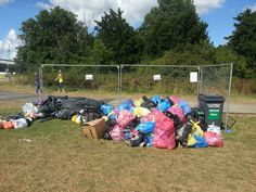 Sensible recycling/rubbish points at WOMAD. Cleanest festival we've ever been to!