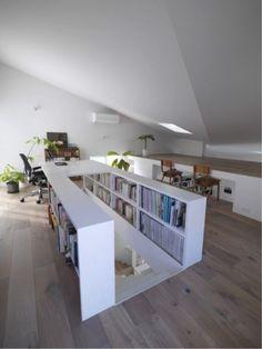 Gallery of The Corner House in Kitashirakawa / UME architects – 14 - Home Decor Ideas House Design, House, Interior, Home, Bedroom Design, House Plans, Corner House, House Interior, Attic Bedroom Designs