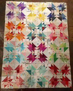 Scrappy Version Of Jen Kingwell's Little White Dove Quilt---Blue Beehive