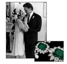 Elizabeth Taylor's engagement ring for her 2nd wedding to Richard Burton - the Grand Duchess of Russia's emeralds!