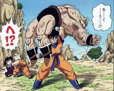 Gohan, Krillen, Nappa, and Goku